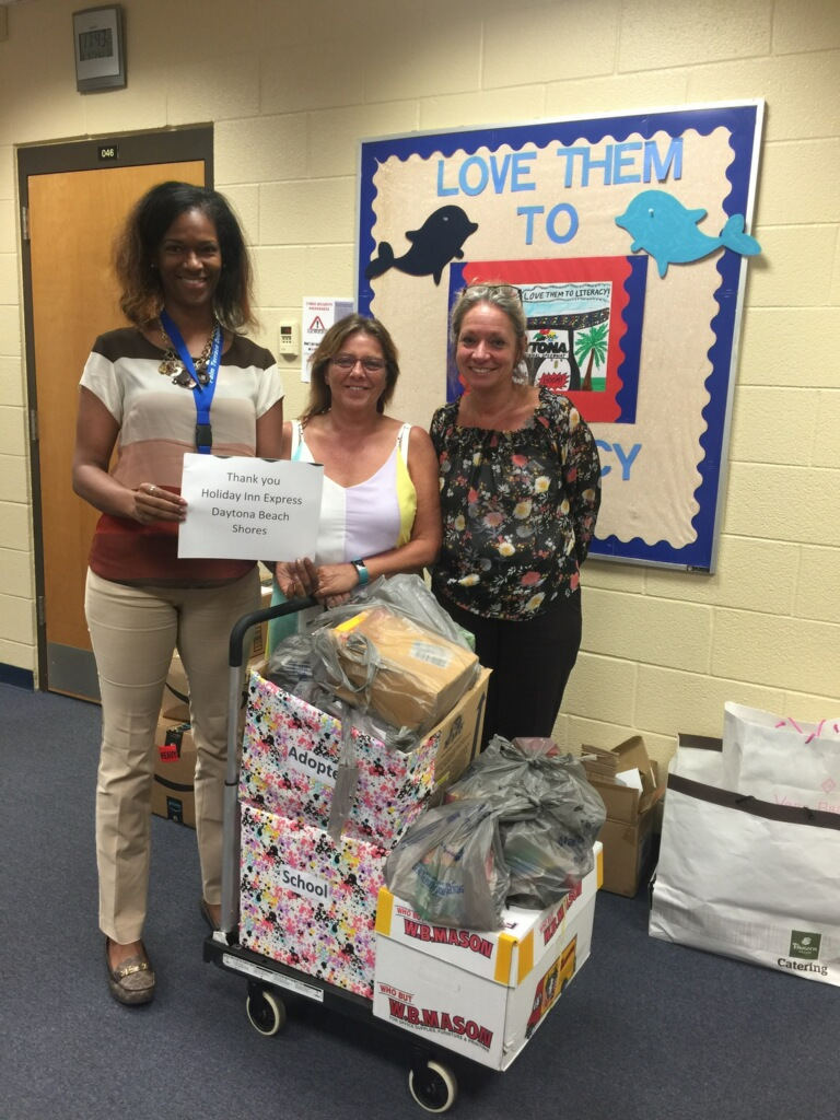 Thanks to Holiday Inn Express DBShores for adopting Palm Terrace Elementary